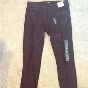 Express Skinny Ripped Jeans